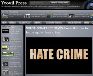yeovil press hate crime